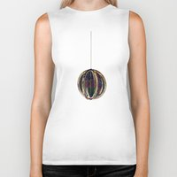 globe Biker Tanks featuring Bubble Globe by Khana's Web