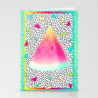 watermelon Stationery Cards featuring Watermelon by Danny Ivan