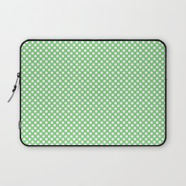 Summer Green and White Polka Dots Laptop Sleeve