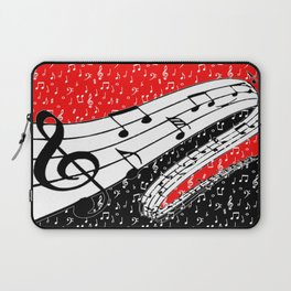 Red and black music theme Laptop Sleeve