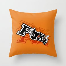 Two-Tailed Fox Throw Pillow