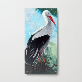 Animal - The beautiful stork - by LiliFlore Metal Print