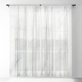 Lux white and gray marble Sheer Curtain