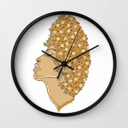 Soulful woman of the digital youth Wall Clock