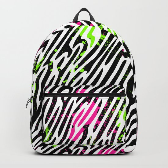 Wild Zebra Print Backpack