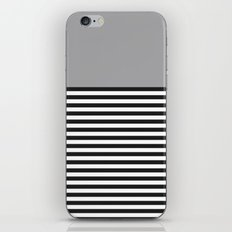 STRIPE COLORBLOCK {GRAY} iPhone & iPod Skin