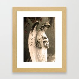 Savannah Cemetary Framed Art Print