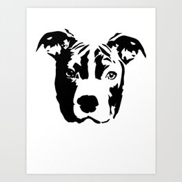 Pit Bull Terrier Dog Art Print