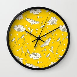 Yellow Vibes Wall Clock