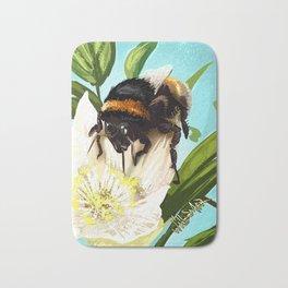 Bee on flower 5 Bath Mat