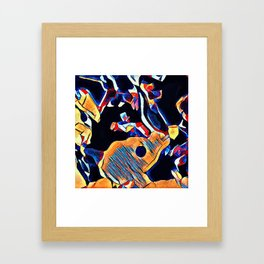 Hot Lava ~ Horse Skull Framed Art Print