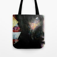 johnny cash Tote Bags featuring Johnny Cash by Glen Ronald