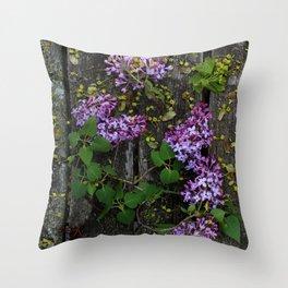 Rustic Lilac Throw Pillow