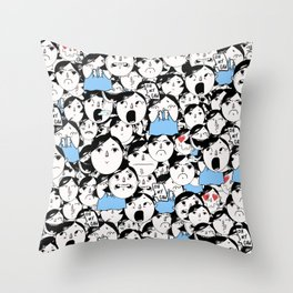 Bobbies Unite Throw Pillow