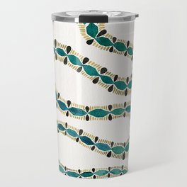 Emerald & Gold Serpent Travel Mug
