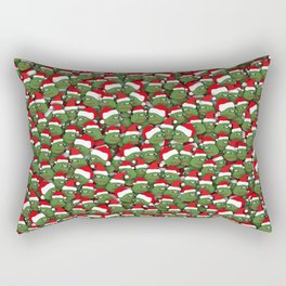 Sad christmas frogs pattern Rectangular Pillow