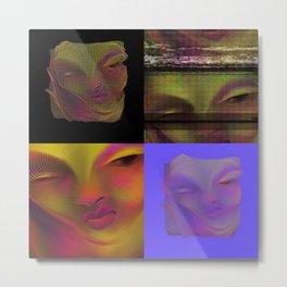 Glitch Woman Metal Print