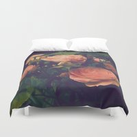 antique Duvet Covers featuring Antique Rose by A Wandering Soul