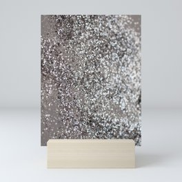 Sparkling SILVER Lady Glitter #1 #decor #art #society6 Mini Art Print