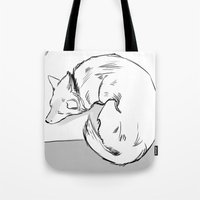 shiba Tote Bags featuring Shiba Inu by Cassandra Jean