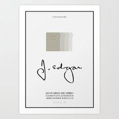 J. Edgar - minimal poster Art Print