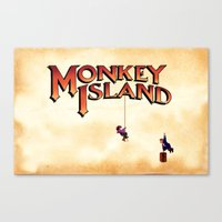 monkey island Canvas Prints featuring Monkey Island - Treasure found! by Sberla