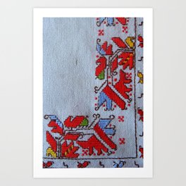 bulgarian traditional embrodeiry Art Print