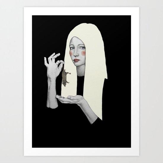 Vana in black Art Print