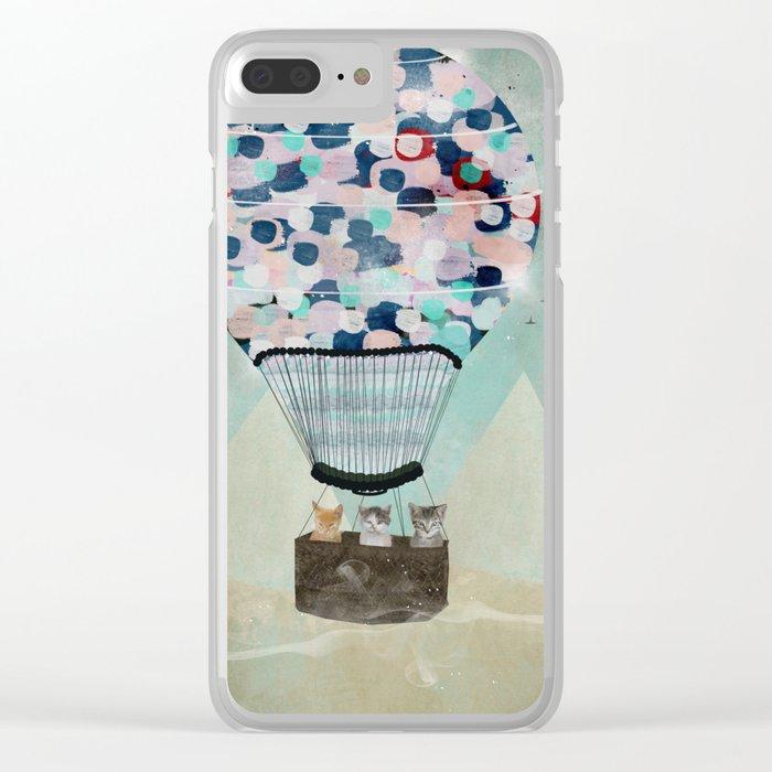a kitten adventure Clear iPhone Case