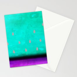 summer watercolor watermelon Stationery Cards