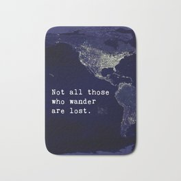 awesome travel quote Bath Mat