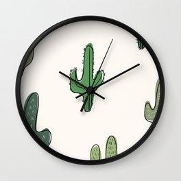 Cactus Jute Wall Clock