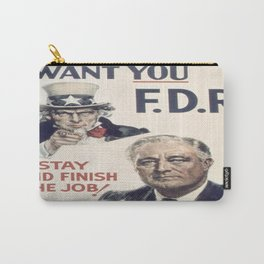 Vintage poster - I Want You FDR Carry-All Pouch