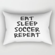 Eat, Sleep, Soccer, Repeat Rectangular Pillow