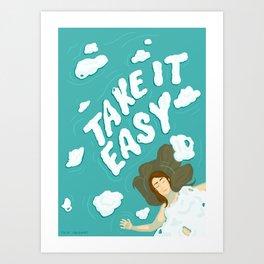 Take it Easy − Digital illustration Art Print