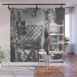 Italian Starlet Scilla Gabel black and white portrait photograph / art photography Wall Mural
