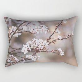 Spring Blackthorn Blossom Rectangular Pillow
