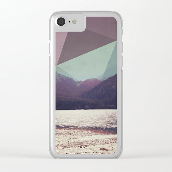 Autumnal Mountains Clear iPhone Case