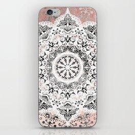 Dreamer Mandala White On Rose Gold iPhone Skin