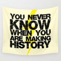 history Wall Tapestries featuring HISTORY by Silvio Ledbetter