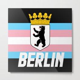 Trans Berlin transgender LGBT PRIDE SEASON BERLIN Metal Print