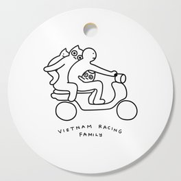Vietnam racing family Cutting Board