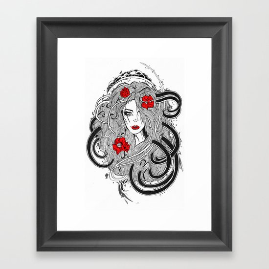 Rose. Framed Art Print