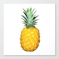 pinapple Canvas Prints featuring Pineapple by CumulusFactory