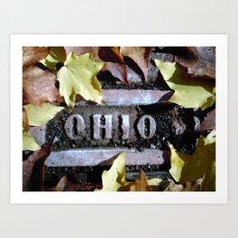 Ohio Brick Art Print
