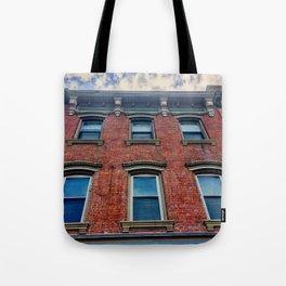 Looking Up on Main Street - Beacon NY Tote Bag
