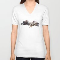 andreas preis V-neck T-shirts featuring Arctic Eagle by Andreas Lie