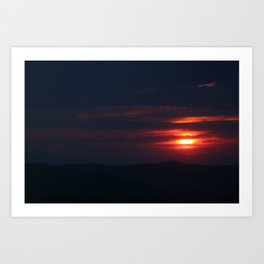 Sunset Virginia City, MT Art Print