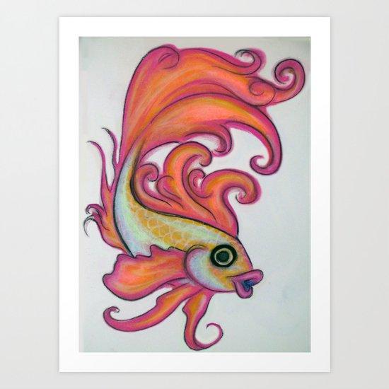 just a fish Art Print