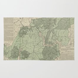 Vintage White Mountains New Hampshire Map (1915) Rug